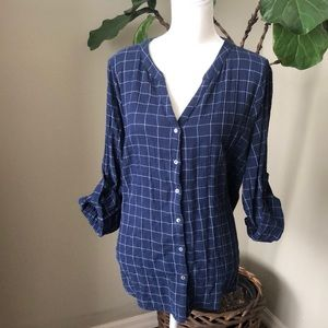 Skies Are Blue Blouse XL